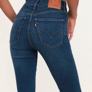 Levi's mile high super skinny size 30